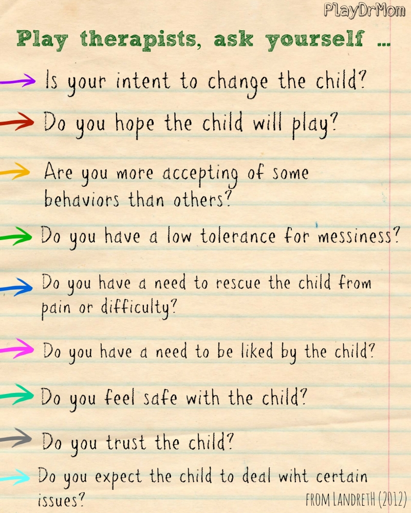 play therapists should ask themselves