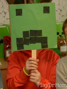 Trying out a Creeper Mask