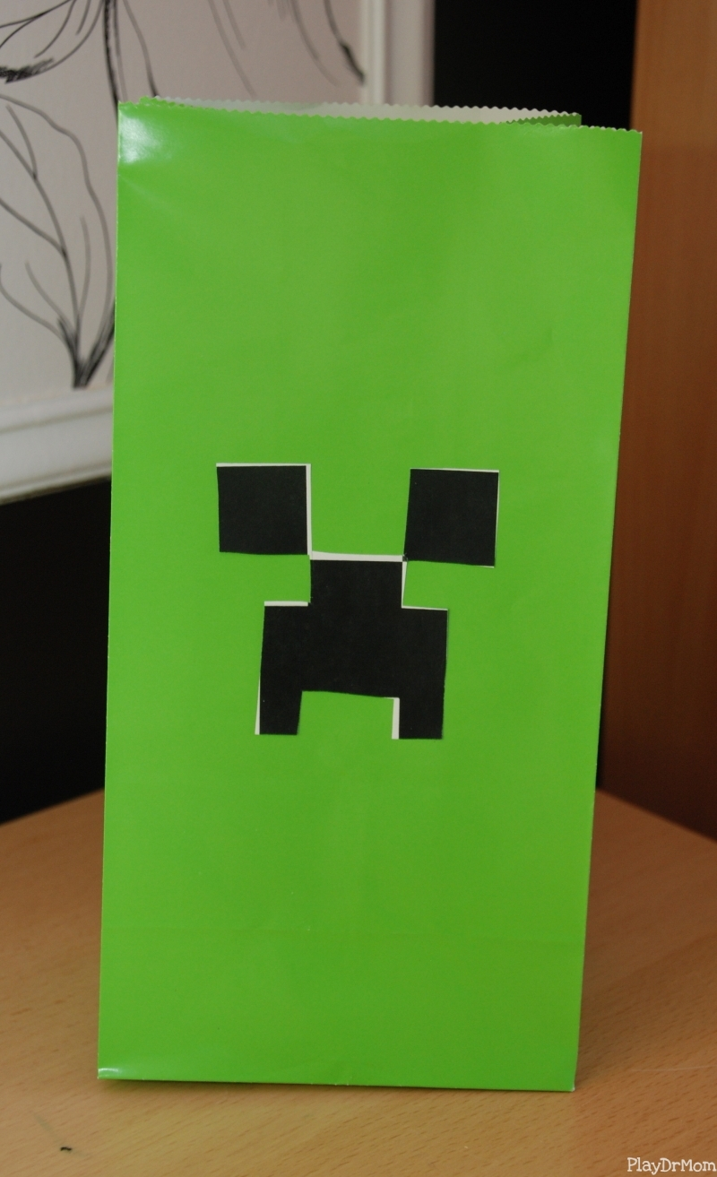 Glow-in-the-Dark Creeper Shirts: Minecraft Party Favor - Play Dr Mom