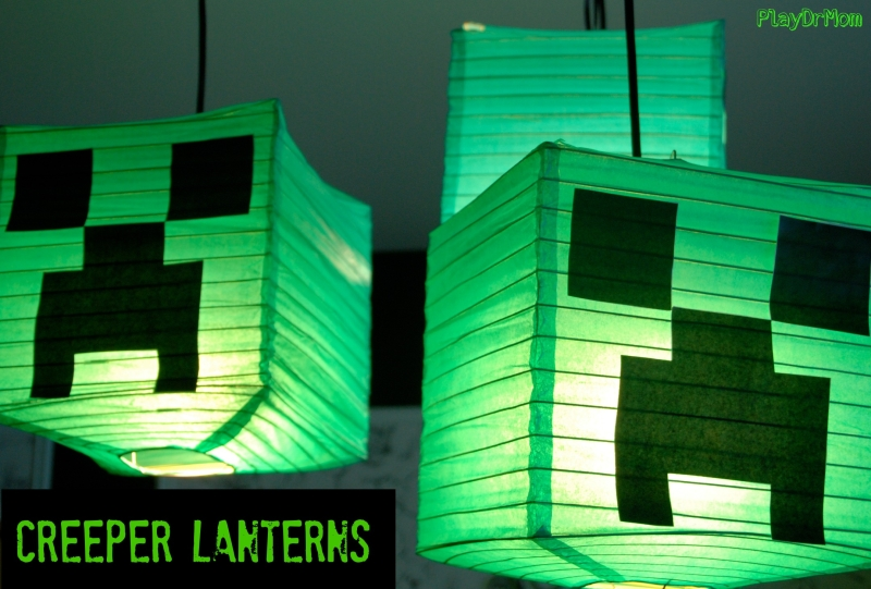 Creeper lanterns minecraft decor play dr mom make your own creeper lanterns aloadofball Images