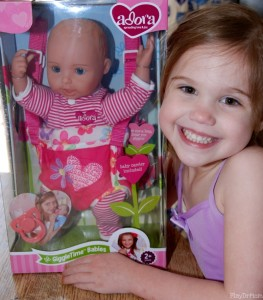 Loving her new Adora Doll