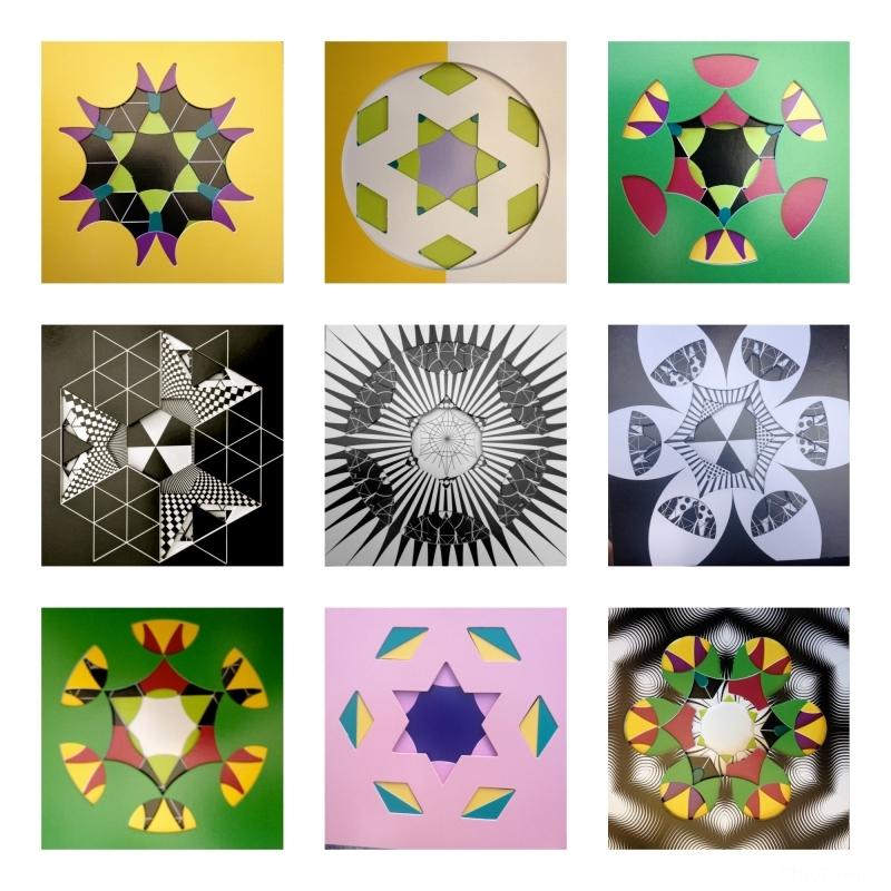 3X3 Kaliograph grid