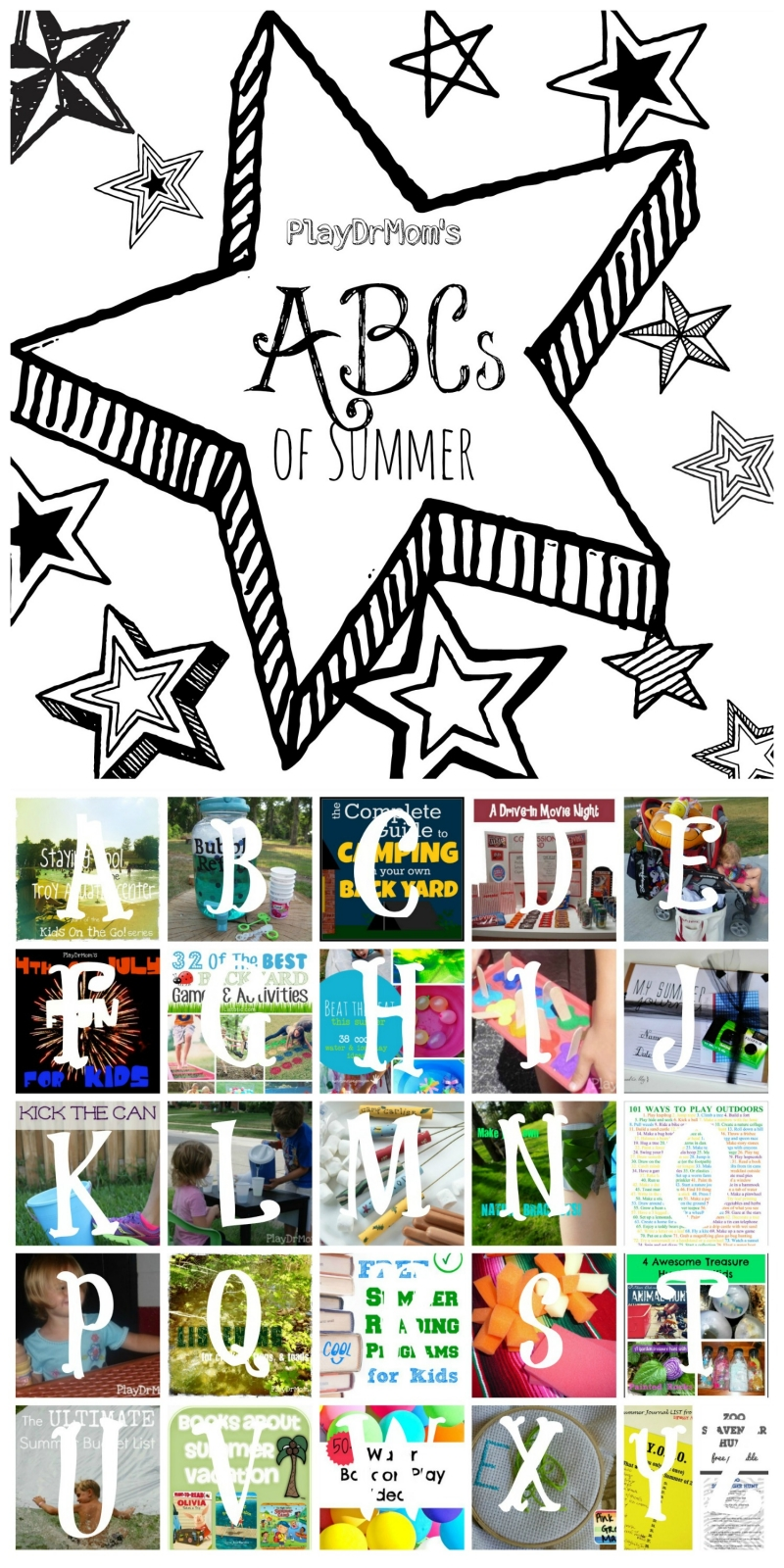 Summer Fun from A to Z!  A  round-up from PlayDrMom