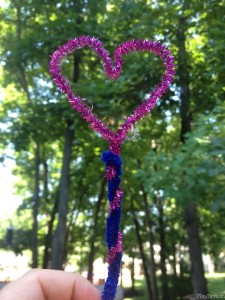 Homemade Heart Bubble Wand