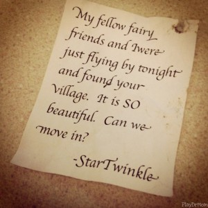 note from a fairy