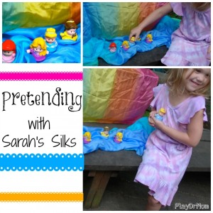 pretending with Sarah's PlaySilks