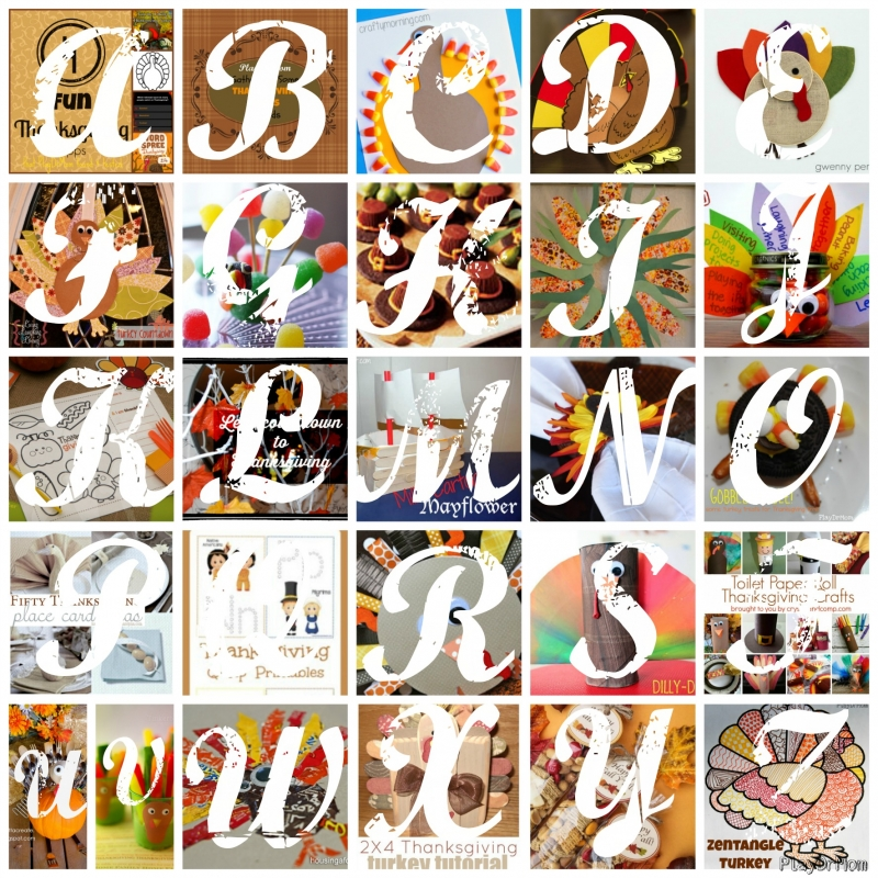 fun ideas for Thanksgiving from A to Z