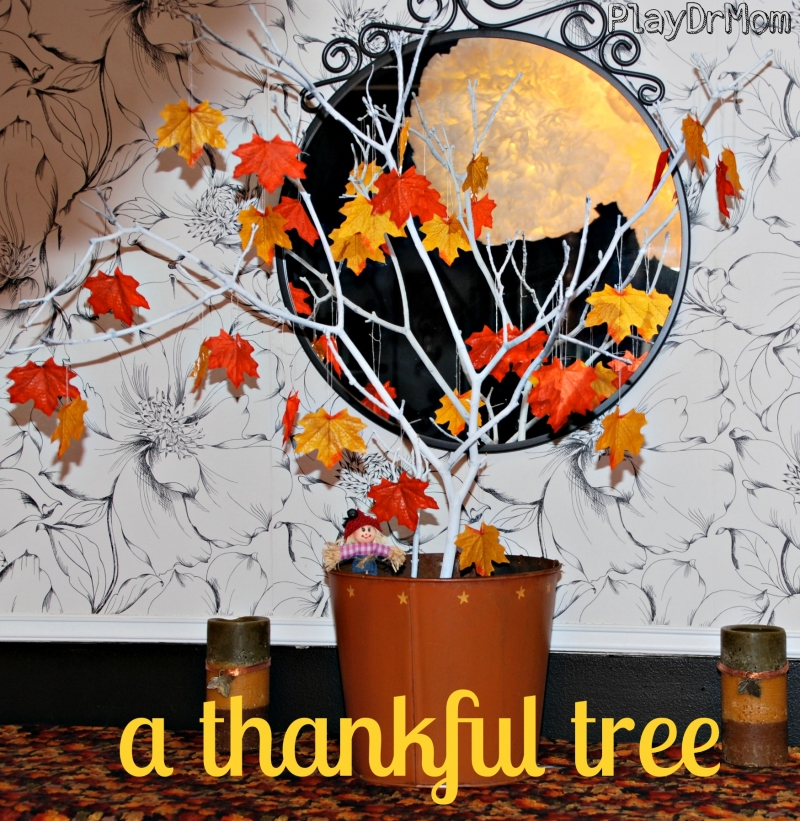 a thankful tree … one leaf for each day until Thanksgiving.