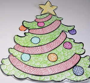 Zentangle Christmas Tree, by PlayDrMom
