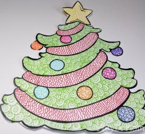 Zentangle Christmas Tree, by PlayDrMom