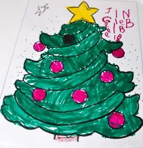 "Honor's ""zentangle"" tree"