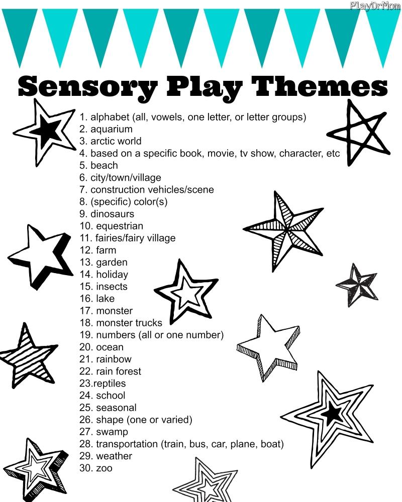sensory play themes